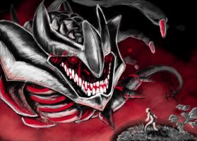 Origin Giratina in Red by Sieberwolf