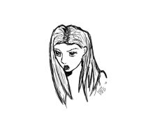 Quick girl's bust sketch by Pegarissimo