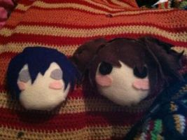 Rise and Naoto Plushies by WhiteMageRinny