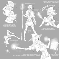 Magic Academy Awilix sketches by BookmarkAHead