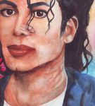 Michael Jackson Watercolour by Meggy-MJJ