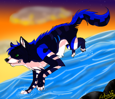 -requested- Zero Walks on water :speedpaint: by Rallie-Redwolf