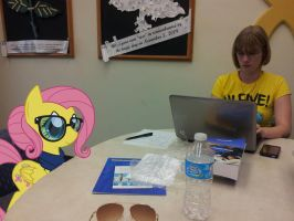 Fluttershy Studying For Class by EMedina13