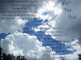 All For You Visual Poem by meljoy68
