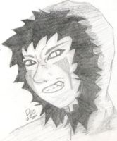 Manbeast Kiba - pencil drawing by dani-jou