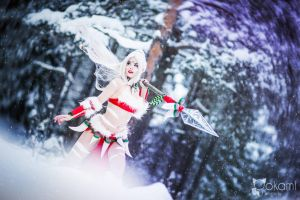 The untamed know no fear - Snow Bunny Nidalee by TineMarieRiis