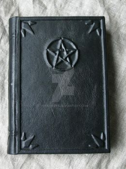 Leather-bound book of Shadows by Yerahatte