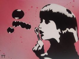 Bubble Girl by GateGraffiti