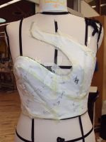 Draping exercise corset by BloodyVampres