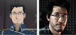 MAES HUGHES AND MARKIPLIER by xRedTnt