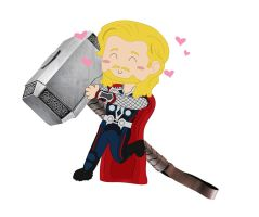 The Thunder God and His Hammer by Lord-of-the-Fandoms