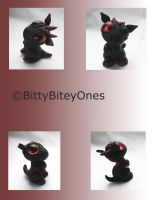 Bitty Ash Dragon by BittyBiteyOnes