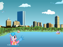 Bronies-Boston City Postcard by purpletinker