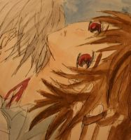 A Scene from Vampire Knight by Reshmie