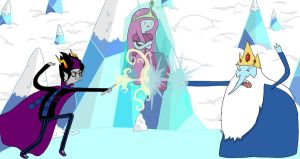 Eridan Vs Ice King by MimiSkelie