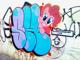 My little pony graffiti, Pinkie Pie! by ShinodaGE