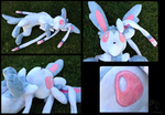 Big Floppy Shiny Sylveon Plush by racingwolf