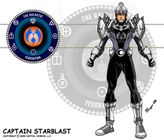 Captain Starblast, Open Helmet by skywarp-2