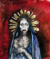 Our lady of sorrow by Freyaah