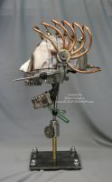 Steampunk Skull Industrial Art Dental Medical by Sculptured