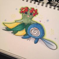Bubble beam and razor leaf by SweetNLoewy