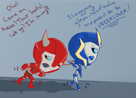 Chibi Cliff and Arcee by clipchip