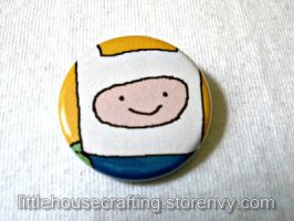 Adventure Time Finn 1.25 inch Pinback Button by Tharidra