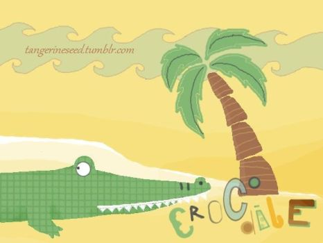 C for Crocodile by tangerine-blossom