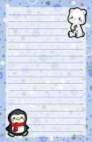Polar Bear and Penguin Stationery by melissah84