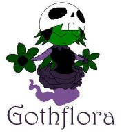 New Fakemon - Gothflora by ChaosGengar