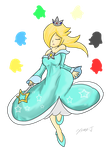 Rosalina: Rainbow Star by Xero-J