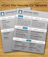 vCard Site Resume CV Template by UniqueCreativity
