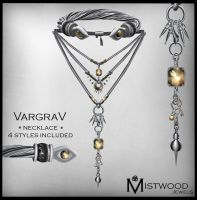 VargraV - Unisex Necklace Topaz Version by Aedil