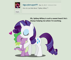Question 8: What do you think of Spike? by AskFabRarity