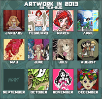 My Artwork In 2013 by tea-bug