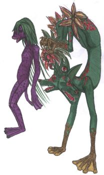 Spore Hymme and CarnivorusTree by FungalZombieX