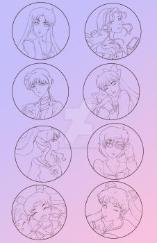 Sailor Scout Charms by artbykurisu