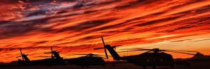 Helicopter Sunset HDR by Creative--Dragon