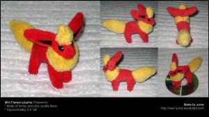 Mini Flareon plushie by Neon-Juma
