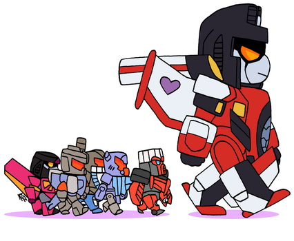 Starscream and his mini-cons by KingRebecca