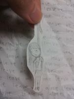 Leave Me Alone.... (paper child) by jeoong94