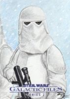Star Wars GF S2 - Snowtrooper Sketch Art Card by DenaeFrazierStudios