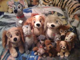Lady n Tramp Plush Collection by Eevee-Kins