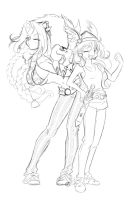 AsteRina_and_OBANAga by lady-narven