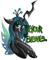 Aggressively Motivational Chrysalis by Glitchdove