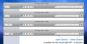 iXP AQUA Styler Toolbar by couleurbleu