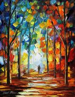 Fire feelings by Leonid Afremov by Leonidafremov