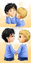 Little Holmes and Watson by xiuhua