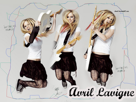 Avril Lavigne wallpaper by silene7