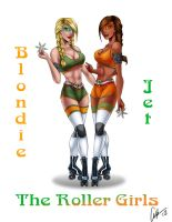 Commission. The Roller Girls by AshDayArt